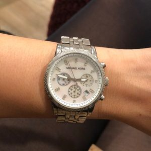 Michael Kors Pearl White Face Watch
